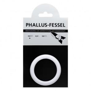 AMARELLE Phallus-Fessel, Latex Cockring, M, white
